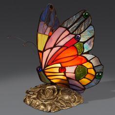AB08011 butterfly Tiffany style lamp www.artedalmondo.it