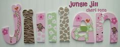 Jungle Jill - hand painted wall letters to match Carter's Jungle Jill bedding
