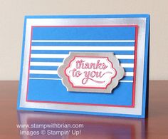Happy Notes, Stampin' Up!, Brian King