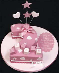 003199 Figure 2 Birthday Cake covered in Pink with Pink Board and Stars.jpg 647×800 pixels