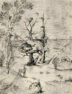 Hieronymus Bosch, The Man Tree, Pen and bistre on paper, 1455-1516