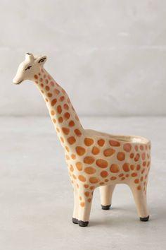 vasos de planta de bichinho - girafa