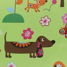 Tissu Occultant Happy Doggy anis x 10cm