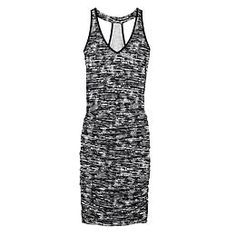 Jen's Pick! Printed Tee Racerback Dress - The soft racerback tee dress with a deep V-neck and shirred sides that hug you in the best way possible.