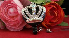 The Royal Queen of Bling ID Reel on Swivel Alligator Clip by ChristyBows on Etsy