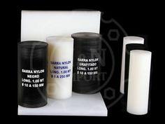 NYLON Blanco – Negro - Grafitado  Nombres Comerciales ERTALON - NITANYL - GRILON - SNEAMID  PRESENTACIÓN • BARRAS REDONDAS: Longitud: 1.00 mt / Diámetro: 6mm a 250 mm • BARRAS CUADRADAS: Longitud: 1.00 mt / Medidas: 15x15 a 80x80