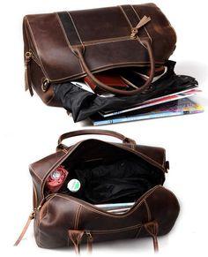 Handmade Vintage Leather Travel Bag, Tote, Messenger Bag, Overnight Bag
