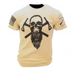 Fear the Beard II Grunt Style Shirts, Tan T Shirt, Tactical Clothing, Awesome Beards, Hair And Beard Styles, Graphic Tee Shirts, Cool Shirts, Just In Case, Cool Outfits