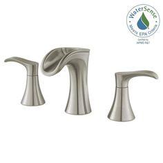 Pfister Brea 8 in. Widespread 2-Handle Waterfall Bathroom Faucet in Brushed Nickel