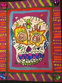 Day of the Dead Skulls by paintedpaper, 5th grade