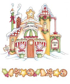 by laurie furnell Christmas Drawing, Christmas Paper, Christmas Images, Christmas Colors, Winter Christmas, Vintage Christmas, Christmas Crafts, Christmas Decorations, Xmas