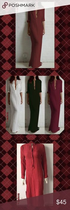 """JUST IN🆕Wine Maxi Boho Linen Dress New Boho Maxi Linen Dress Product details Material: Polyester Blend Size: Tag 3XL (Fits US 10-12) Color: Wine Approx measurements:  Length: 54"""" Shoulder: 16"""" Sleeve: 23"""" Bust: 43"""" Hips: 44""""  💠💠PRICE FIRM UNLESS BUNDLED💠💠 ⭐️⭐️SORRY NO TRADES AND LOWBALL OFFERS WILL BE IGNORED ⭐️⭐️ ✂️LOWBALL OFFERS WILL BE IGNORED✂️ Glam Squad 2 You Dresses Maxi"""