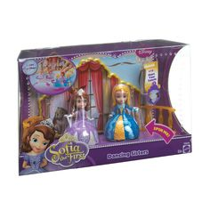 Games and Toys: Disney Sofia The First Dancing - Sofia the First and her stepsister Amber are dancing! This set includes two dolls that will twirl and spin on their own, or can be linked together for a duet. The set includes the royal ballroom backdrop. Sofia The First Cartoon, Disney Shares, Disney Cookies, Princess Toys, Disney Princess, Dancing Dolls, Baby Bouncer, Best Kids Toys, Minnie Mouse Party