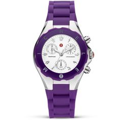 Michele Tahitian Watch with Purple Jelly Bean Strap, 35 mm ($225) ❤ liked on Polyvore