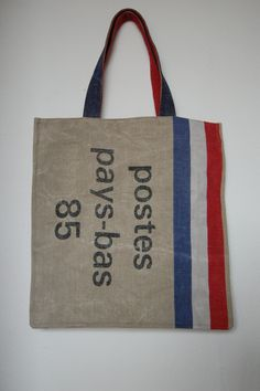 5883dade9919 A shoppersize bag made out of old mail bags Making Out