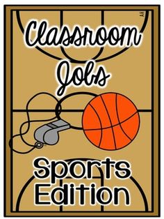 This set includes a bulletin board set for 12 classroom jobs in the sports theme. It has pre-made and editable pages. It comes in three themes with 3 options for bulletin board headers.Looking for more Sports Themed Classroom Decor? Check out my Sports Room Theme Set: Sports Themed Classroom Decor Set