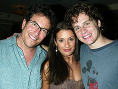 lea michele and jonathan groff | Lea Michele and Jonathan Groff Spring Awakening: Wall of Fame at Tony ...