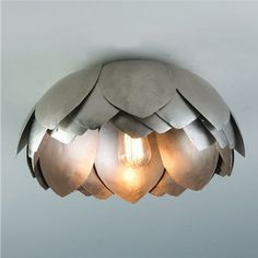 Metal Lotus Flush Mount Ceiling Light contemporary ceiling lighting