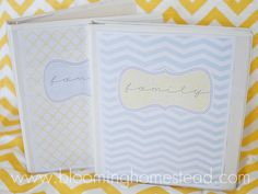Time to get organized! Free printable download for your family notebook! This is fabulous!