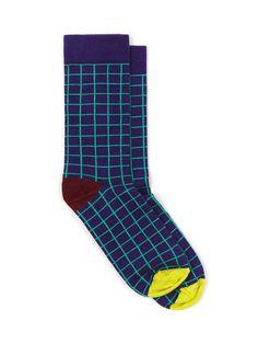 Unisex Patterned Sock (Grid/Harold)