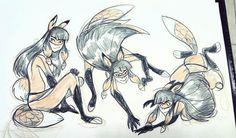 ladybug and cat noir concept art - Google Search