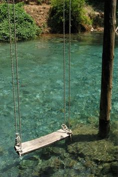 a swing over water; the best kind