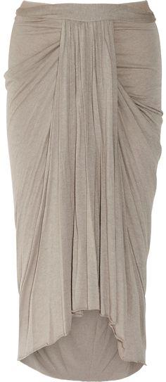 6c3da1ec5 Rick Owens Lilies Ruched Jersey Midi Skirt in Purple (mauve) - Lyst