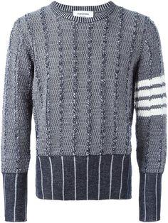 Thom Browne свитер с панельным дизайном