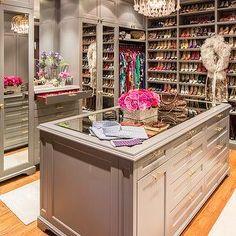 Marks & Frantz - closets - closet, walk in closets, dressing rooms, glam dressing rooms, glam closets, built ins, gray b...