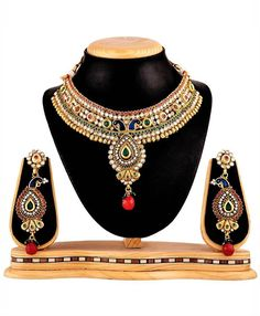 RG Fashions Jewellery Multicolor Necklace Set