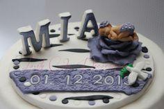 Taufe Torte Tortenaufleger Tortendekoration Deko   von Lovely Cake Decorations auf DaWanda.com