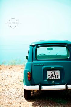 Turquoise Renault 8x12 - Fine Art Photography Wall Decor Office Art Car Croatia. $25.00, via Etsy.