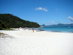 One of the beaches on Ilha de Santa Catarina, a small island just off the south east coast of Brazil. The beaches are the main attraction but also great nightlife in the main town Florianopolis.