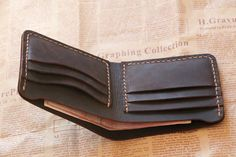 Material: cow leather Size: length 11cm width 9cm There are 6 card slots inside For more items,please visit my shop: https://www.etsy.com/shop/abbycraftshop Shipping: Please note that the item is shipped from China. items will be shipped within 5 days after payment and takes about 2