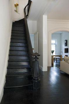 black painted floors