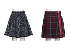 1b0fb804a10ed 人気、キッズファッションの通販  mezzo piano   KIDS メゾピアノ のチェックプリーツスカート 花カットワーク刺しゅうスカート