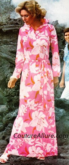 A Lilly Pulitzer Maxi dress from 1975.