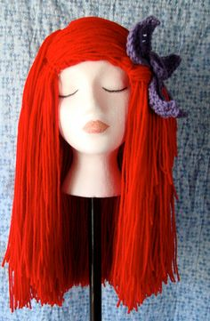 Little Mermaid Yarn Wig. Yarn wigs in general would be good... Little 2b61dbfa3842