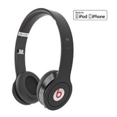 MONSTER BEATS BY DR. DRE SOLO HD BLACK - CUFFIE ON-EAR CON CONTROL TALK