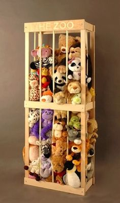 Stuffed Animal Zoo - Click image to find more Home Decor Pinterest pins