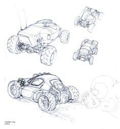 Cartoon Drawings, Drawing Sketches, Art Drawings, Sketching, Industrial Design Sketch, Car Design Sketch, Art Et Illustration, Mechanical Design, Character Design References