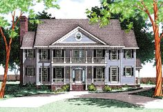 A huge bonus room sits over the three car garage of this handsome Colonial home plan.Inside, a wealth of amenities await you including four big bedrooms, a screened porch with charming window seat and a large walk-in pantry off the kitchen.Both formal and informal living spaces let you spread out in comfort.Lovely transom windows bring in extra light.The big stair hall on the upper floor lets you walk out to the front covered porch.This home is designed for SIPs exterior wall.Related Plan: See h