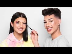 Look at Charlie! She created a collab video with James Charles! He did an amazing job. Celebrity Makeup Looks, Channel, Makeup Goals, Celebs, Celebrities, Makeup Videos, Popular Videos, Shea Butter, My Idol
