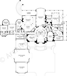 Caserta House Plan First Floor Plan. What..an Attached Tree House And Oval