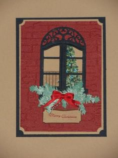 Christmas through my window by genistamps - Cards and Paper Crafts at Splitcoaststampers