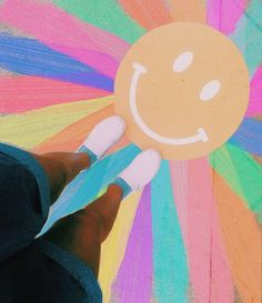 Ur radiant boo ✰ vibezzz ✰ art, summer aesthetic и chalk art Parking Spot Painting, Sidewalk Chalk Art, Rainbow Aesthetic, Summer Aesthetic, Chalk Drawings, Happy Vibes, Mellow Yellow, Picture Wall, Photo Wall