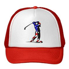 60f568b163cb7 American Flag Golf Hat American Flag