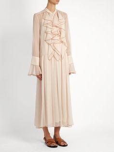 Ruffle-trimmed crépon maxi dress   See By Chloé   MATCHESFASHION.COM US