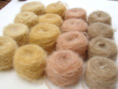 Hand dyed Mohair 50 gr  waldorf doll hair. blond  by LaFiabaRussa, €6.00