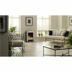 EWT 111401 Bartok - Chimenea eléctrica (2000 W, efecto óptico para llamas, termostato, atenuador, mando a distancia): Amazon.es: Hogar